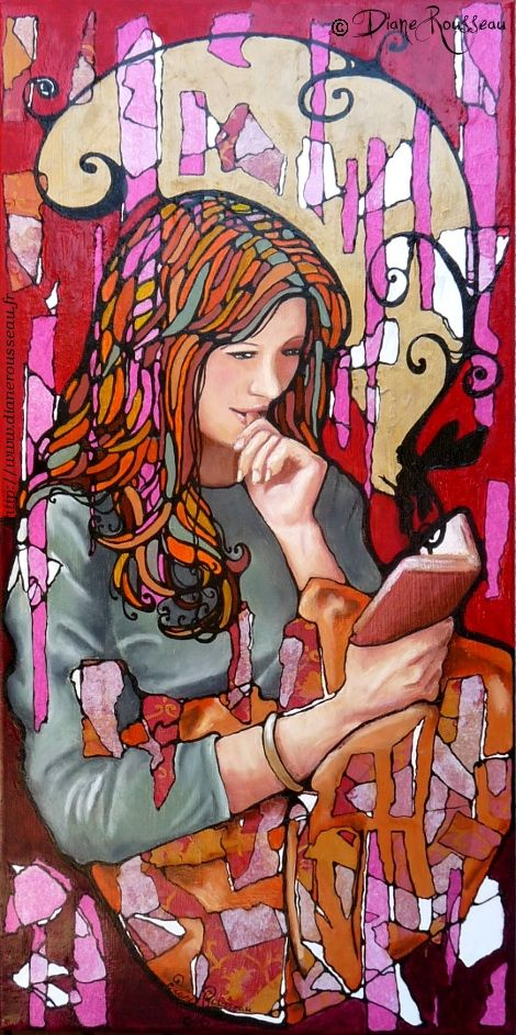 Diane Rousseau. Repin if you like it! :) #books #book #reading #read #reader #art