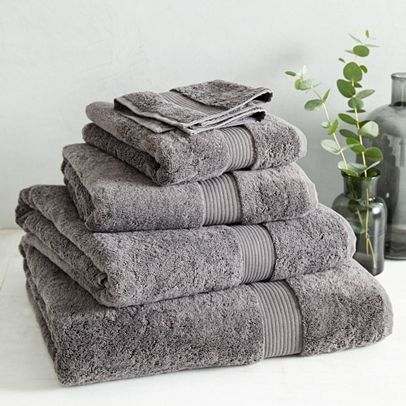 Envelop yourself in super-soft comfort with this classic bestseller. Our Luxury Egyptian Cotton Towels are made from 700GSM twisted Egyptian-cotton Terry, which feels super-soft and generously plush to touch. Detailed with a simple single border, these towels suit every bathroom, meaning you can love the simple pleasure of comfort and quality for years. 100% cotton Imported