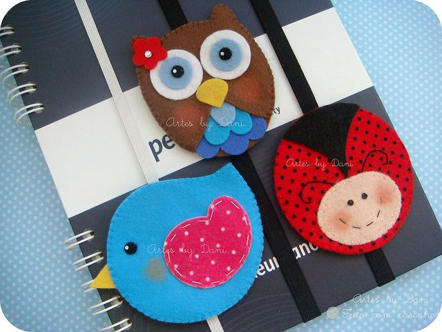 Marcadores de páginas: Craft, Pages, Felt Bookmark, Felt Owl, Mark Page, Markers