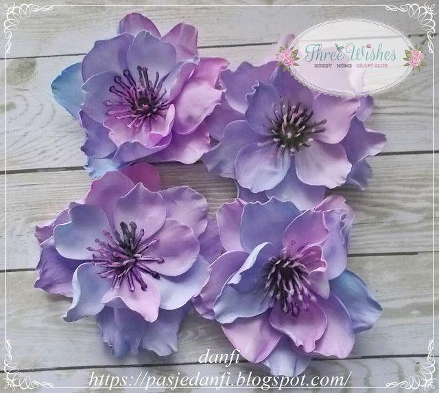 Pasje Danfi Trojwarstwowy Kwiatek Z Ultracienkigo Foamiranu Paper Flowers Diy Flowers Handmade Flowers
