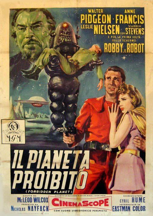 Forbidden Planet (1956) - Italian Movie Poster