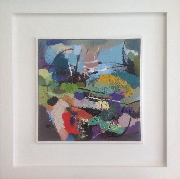 'Freundliche Grüße von der Front' acrylic/mixed media on canvas mounted on board 50cm square. £295