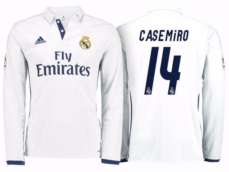 Real Madrid #14 Casemiro 2016-17 Home Long Jersey