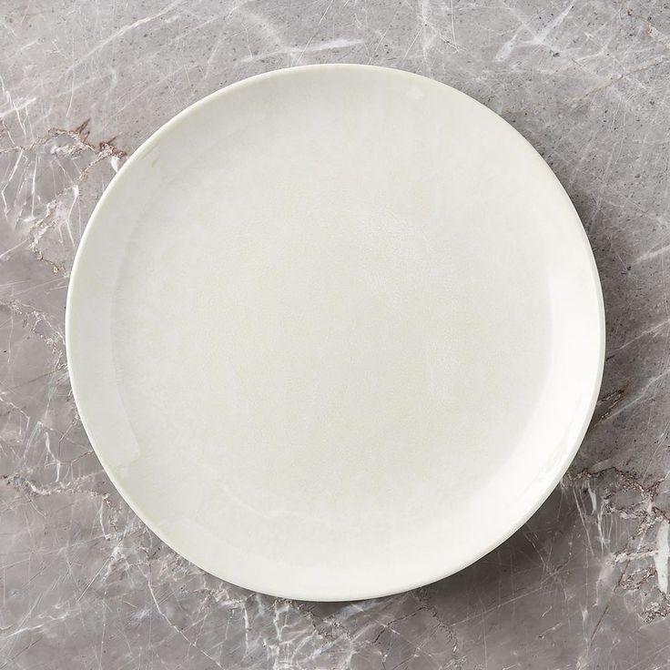 Caspian Cream Reactive Glaze Dinner Plate