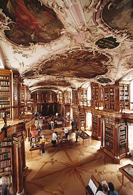The breathtaking Abbey of St Gall Library Switzerland