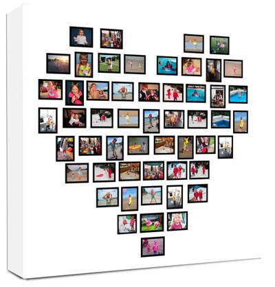 Pictures in heart shape