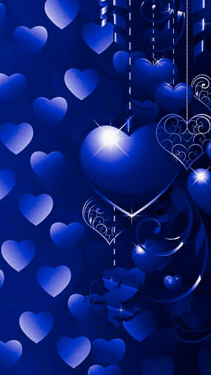 Pin By Kristen On Iphone Wallpapers Heart Wallpaper Blue Wallpapers Love Wallpaper