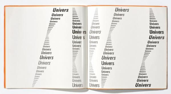 Schriftmusterbuch    Univers (Originaltitel)  Satzkompositionen / Experimental Type Compositions / Exercices compositions typographiques 1 (Reihentitel)  1966