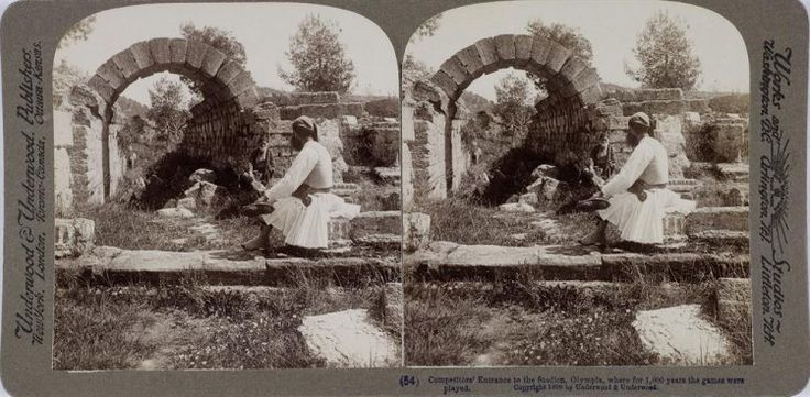 Ο αρχαιολογικός χώρος της Ολυμπίας. Ολυμπία, γύρω στα 1897 Underwood & Underwood