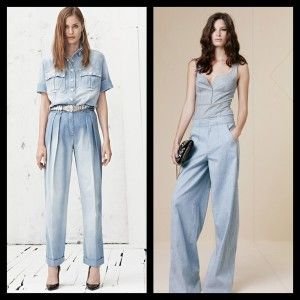 Denim Jumpsuits Denim is all around for Spring/Summer 2013  Here are some fresh, hot trends to love.