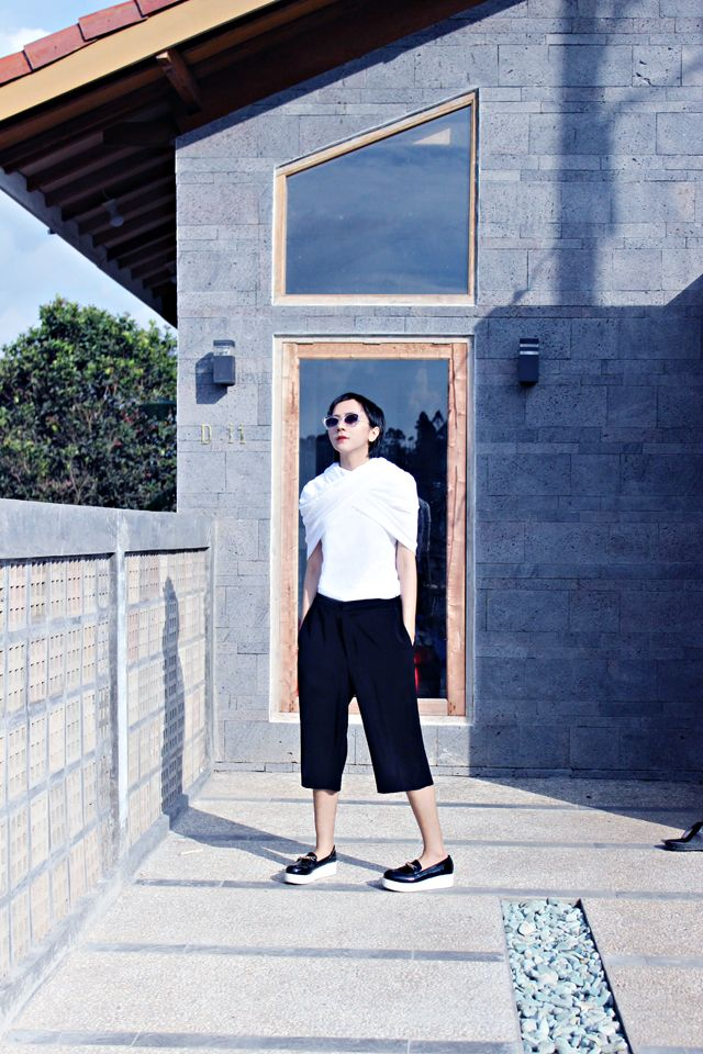 Brand new #DIY #culottes and new way to use your #scarf.