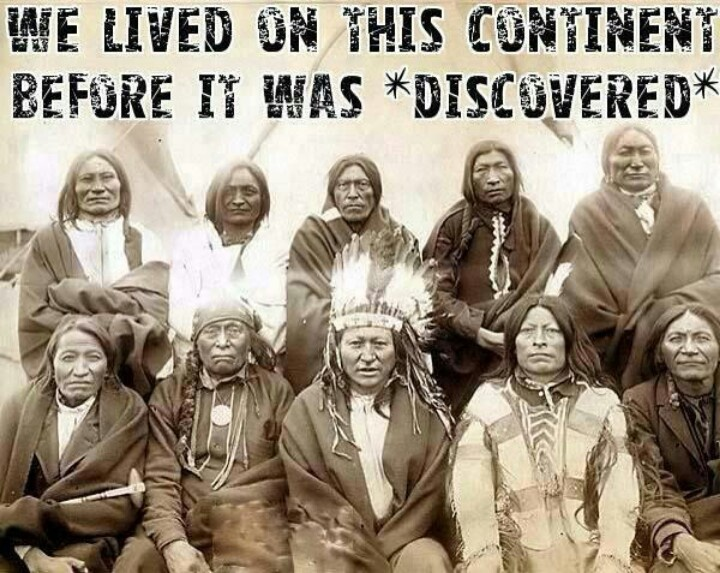 "#idlenomore  ""discovery"" was invasion  ""small pox left untreated in First Nations while being treated within Invading communities"" was Biological warfare  ""indian raids"" was defense of one's own land from hostile unwelcome invasion  ""indians"" are First Nations  ""Columbus"" got lost and committed gross genocide  ""treaties"" are the one truth which stands the test of time, an agreement between equals, justice, love, unity in diversity, oneness"