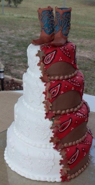 Torta de boda vaquera