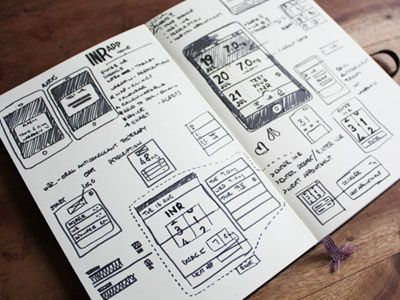ui sketches - mobile