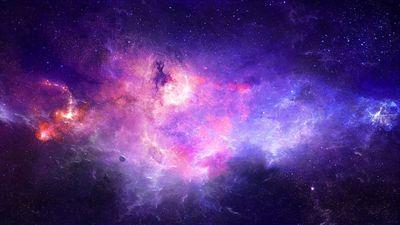 Purple galaxy Wallpaper