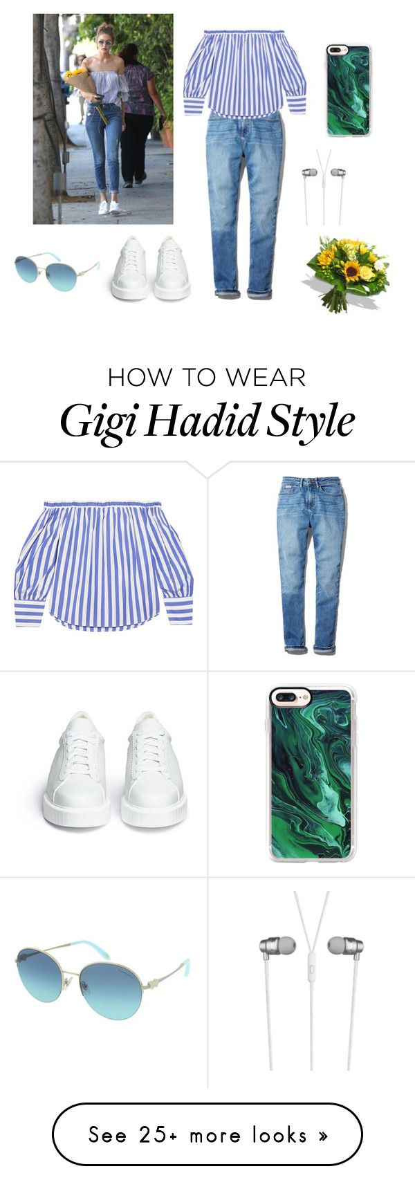 """A blue Gigi"" by stellafalls on Polyvore featuring Calvin Klein, J.Crew, Robert Clergerie, Tiffany & Co., Casetify and CYLO"