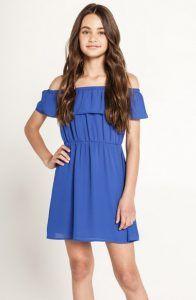 Bardot Junior blue off shoulder dress Tween girls clothing
