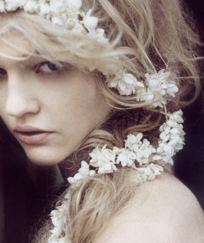 with flowers in her hair    #AGJewelry #theseareafewofmyfavoritethings