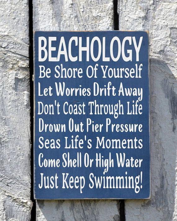 Personalized Beach House Plaques: Beach Sign Decor Beachology New Unique Beach House Plaque