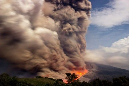 Mount Sinabung Volcano Eruption