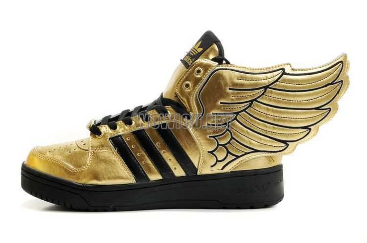 reputable site 17af4 eeec6 Adidas Originals Jeremy Scott JS Wings 2.0 Gold Black Men