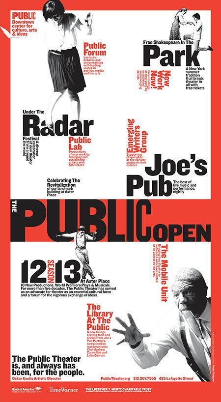 The Public Theater Identity by Paula Scher on Behance
