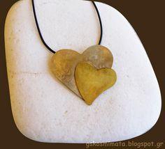 Χειροποίητα κοσμήματα: Χειροποίητο κολίε διπλή καρδιά