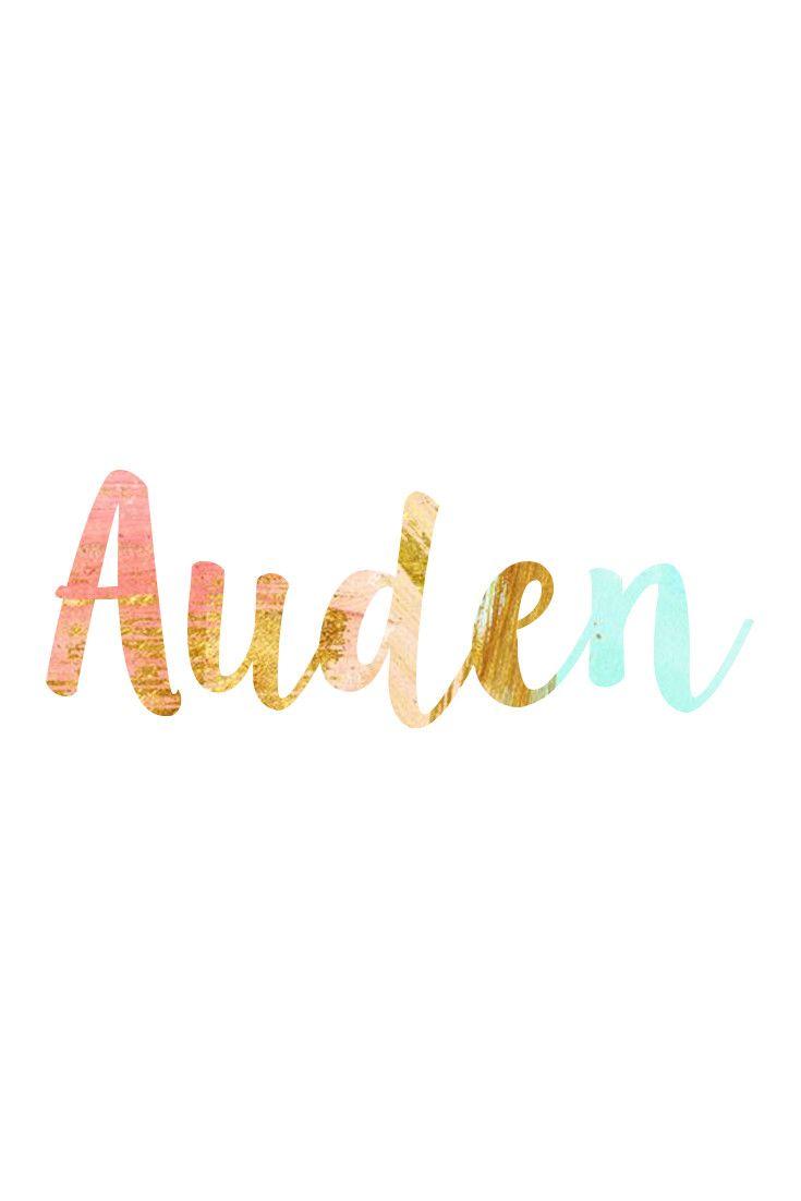 Auden: Unisex Baby Names I Nameille.com