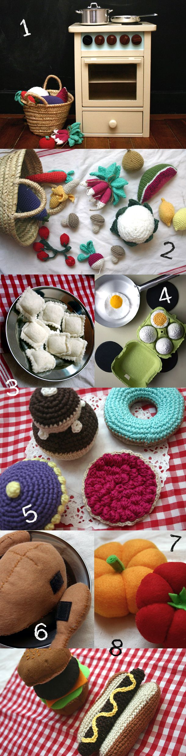 Here is a list of links to tutorials to make these adorable things