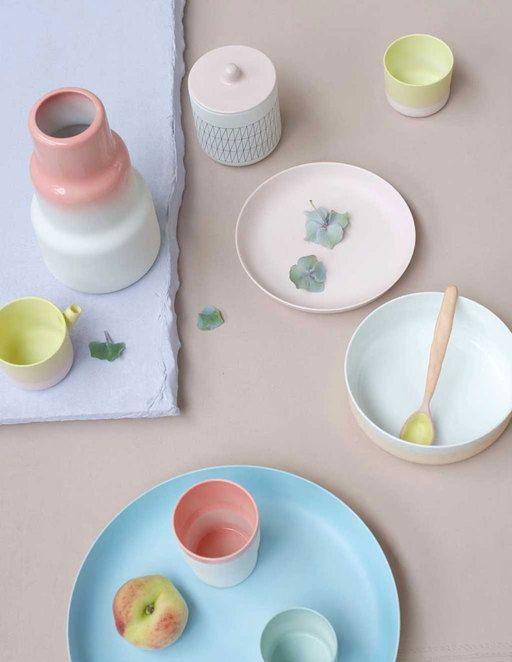 Servies in pastel