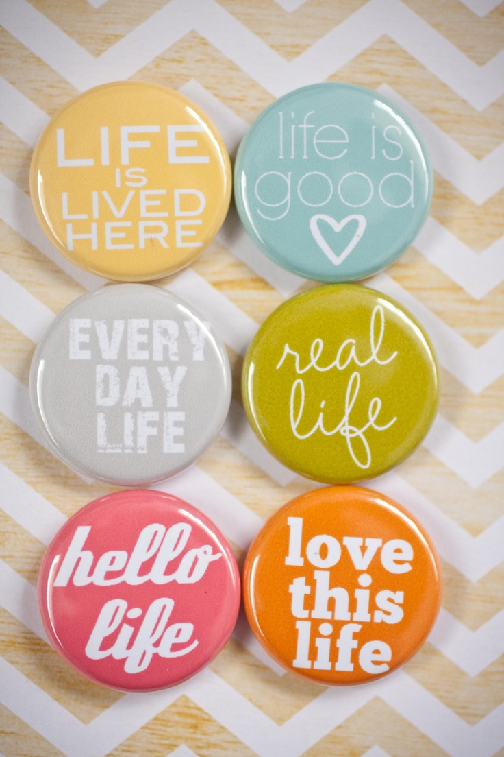 Project Life Flair Buttons - This is Life flair - A week in the Life Flair. From A Life Handmade on Etsy.