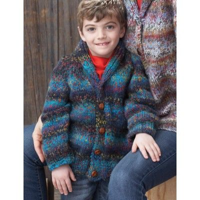 Amazing Knitting Patterns : Shawl Collar Cardigan (Childs Version) - Free Pattern - Patons -Knit P...