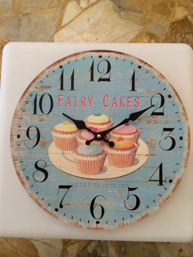 Orologio in legno cake  diametro 30 cm