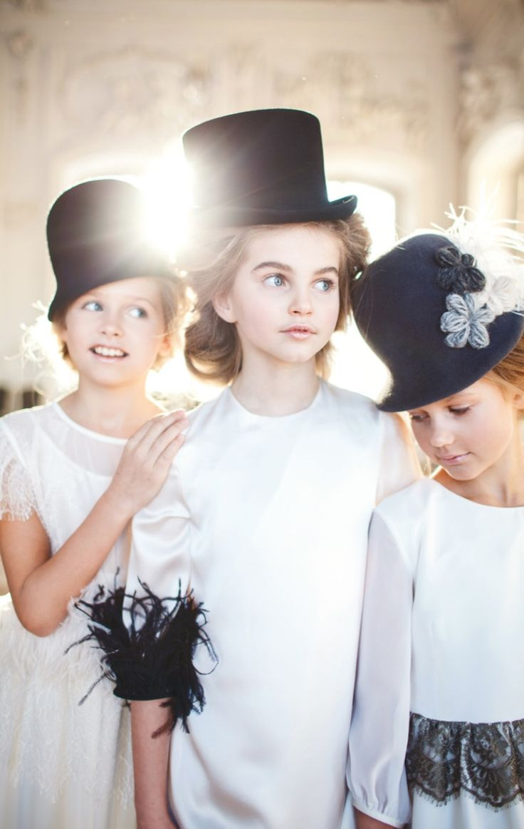 Silks, satin, lace and feathers for winter 2016 kids fashion at Aristocrat Kids