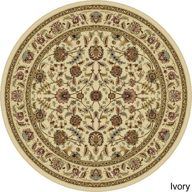 Alise Lagoon Traditional Area Rug (7'10 Round) - Overstock Shopping - Great Deals on Alise Rugs Round/Oval/Square