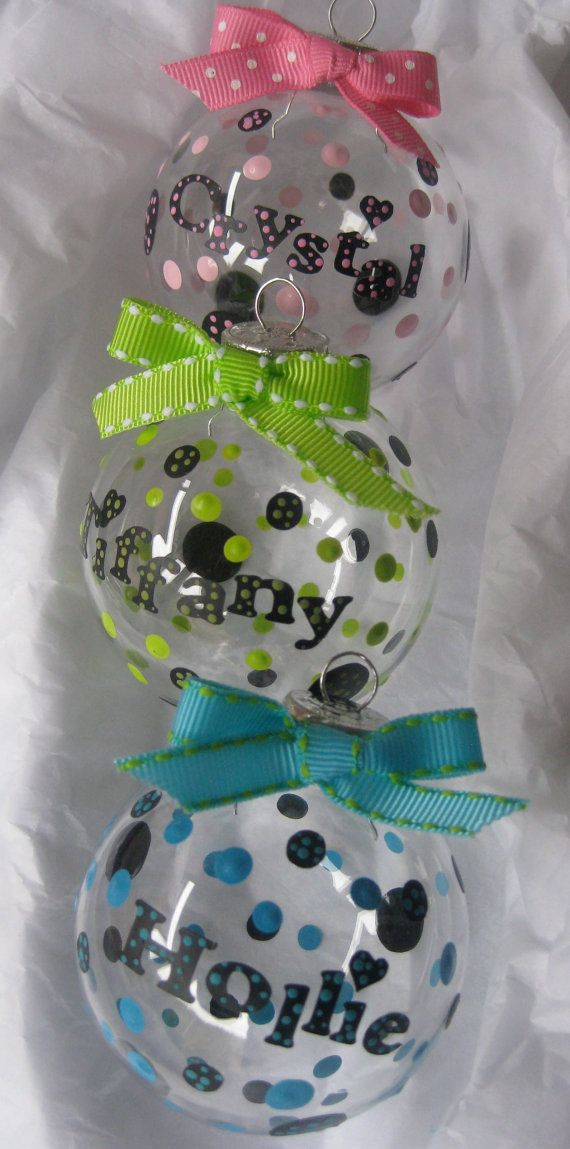 Personalized Christmas Ornament by AChristmasCarol on Etsy, $5.00