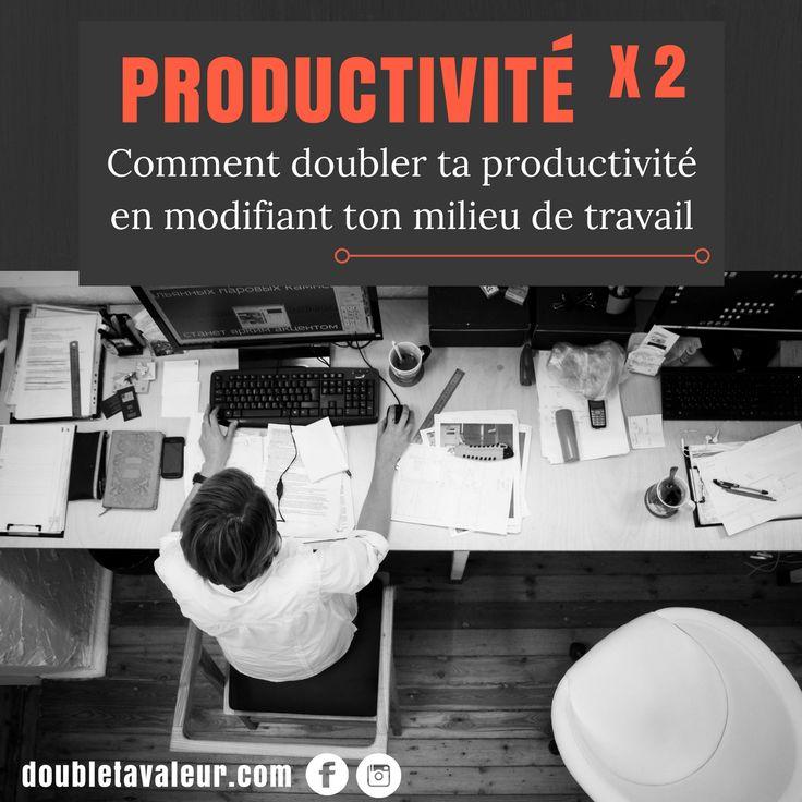 L'aménagement de ton espace de travail a le pouvoir de booster ou de tuer ta productivité! Rendez-vous sur doubletavaleur.com/organiser-son-bureau-pt1 pour savoir comment bien organiser ton bureau. Parce que travailler dans un espace de travail non optimisé c'est vraiment niaiseux! 🤔