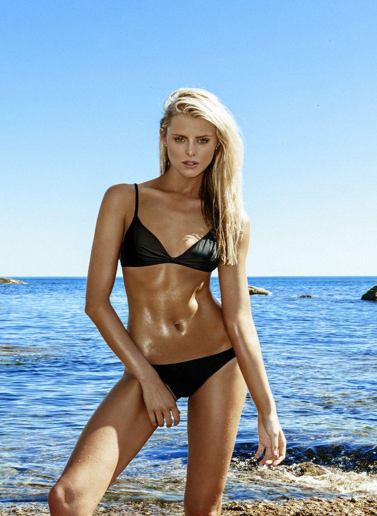 Melissa Odabash - 2016 Collection - The 'Greece' bikini in black. #MelissaOdabash