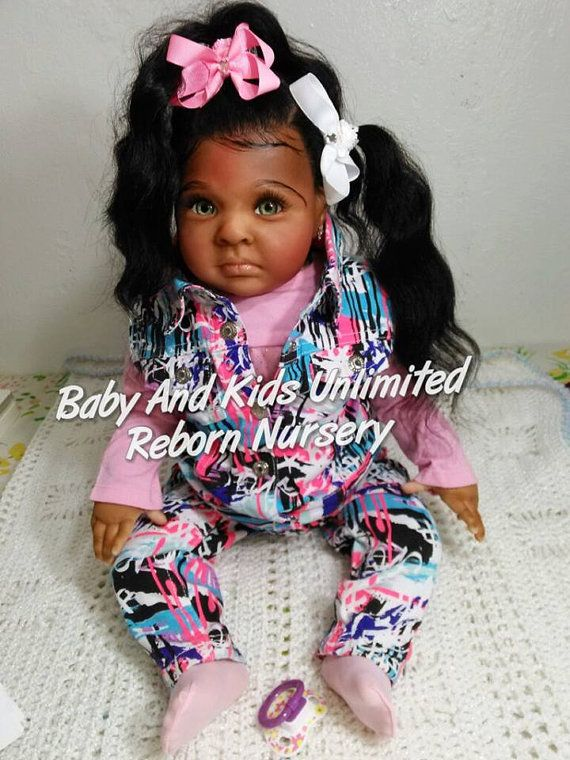This reborn toddler will be made from the Rowan kit. Pictures are a sample of my work. They are home with there mommies now. This is a idea of what your reborn toddler can look like. No Two are the same. She wears 6-9 month clothing. 24 inches Full arms and 3/4 legs. She has a cloth body. My babies are made in many layers using GHSP with tiny glass beads for weighing and poly fill for stuffing to have that cuddly fill. She is rooted with soft mohair. Reborn babies that are available now ...