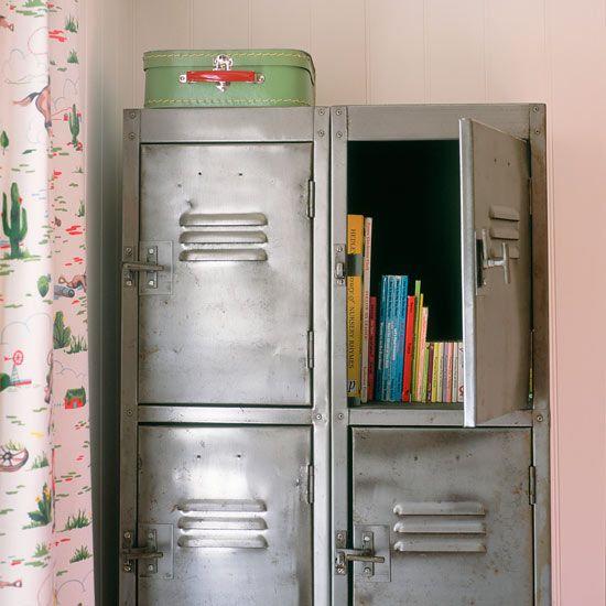 125 best lockers images on pinterest metal furniture for Bedroom furniture storage solutions