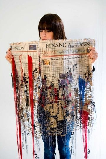 Artist and embroiderer Kirsty Whitlock -  De Montfort University Design Crafts graduate