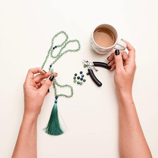 💎green aventurine atracts luck, wealth and prosperity. Encourages personal growth. Enhance intellectual development and learning. Balances emotions.  Link in bio to shop our malas. ✨📿✨ #malas #mala #mindbeads #yogajewelry #handmade #handknotted #jewelry #yogajourney #instagood #yoga #meditation #mindfulness #heart  #healing #coffee #etsyshop #love #peace #crystals #malabeads #mantra #boho #bohochic