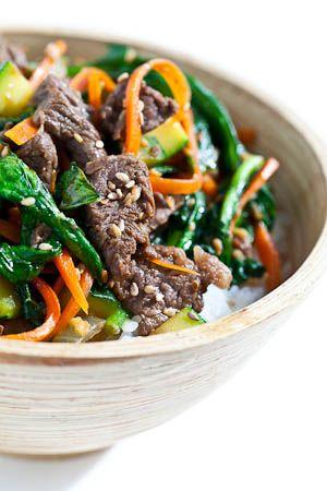 Korean beef rice bowl | 韓牛丼 あなたは、牛ひき肉、サーロイン、フランクステーキ、テンダーロイントリミングなど、牛肉、多くの種類を使用することができます - あるいは、豚ひき肉、地上七面鳥、鶏肉など他の肉を含めるには、このレシピを変更します。あなたがベジタリアンに行きたい場合は、キューブにカットし、非常に木綿豆腐を使用しています。玄米、ジャスミン米、短粒度のご飯 - あなたが好きなお米を使用すること自由に感じなさい - 料理はご飯が含まれています。ピンチでは、バスマティを使用します。典型的な韓国スタイルの米は短粒度である。市場では、単に「ショートグレイン」または寿司飯を探します。別の米は異なる調理時間とご飯があります:水の比率を、とても慎重にパッケージの指示をお読みください。 成分: 2カップ生米 1ポンドの牛肉(頭注を参照) 大さじ2、しょうゆ 小さじ1ごま油 新鮮な生姜すりおろし小さじ1 1ニンニクを細かくみじん切り 大さじ1ブラウンシュガー 油調理1 1/2大さじ 1/2タマネギは、さいの目に切った…