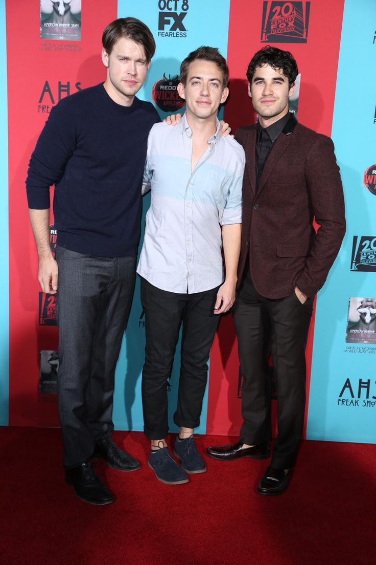 Chord Overstreet, Kevin McHale and Darren Criss