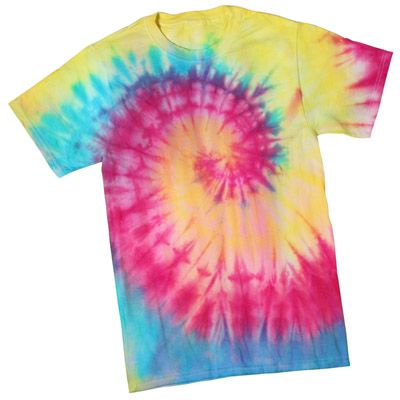 how to make a spiral pattern tie dye shirt