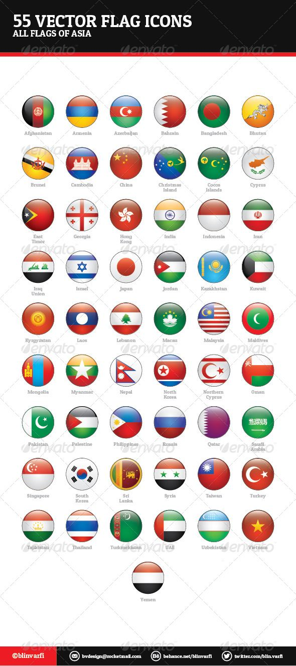 Asian Flags Vector  #GraphicRiver         Asian Flags Vector – Web Icons  Asian Flags Vector are a pack of 55 national flags icons.  Icon pack includes these nations:   Afghanistan, Armenia, Azerbaijan, Bahrain, Bangladesh, Bhutan, Brunei, Cambodia, China, Christmas Island, Cocos Islands, Cyprus, East Timor, Georgia, Hong Kong, India, Indonesia, Iran, Iraq, Israel, Japan, Jordan, Kazakhstan, Kuwait, Kyrgyzstan, Laos, Lebanon, Macau, Malaysia, Maldives, Mongolia, Myanmar, Nepal, North Korea…