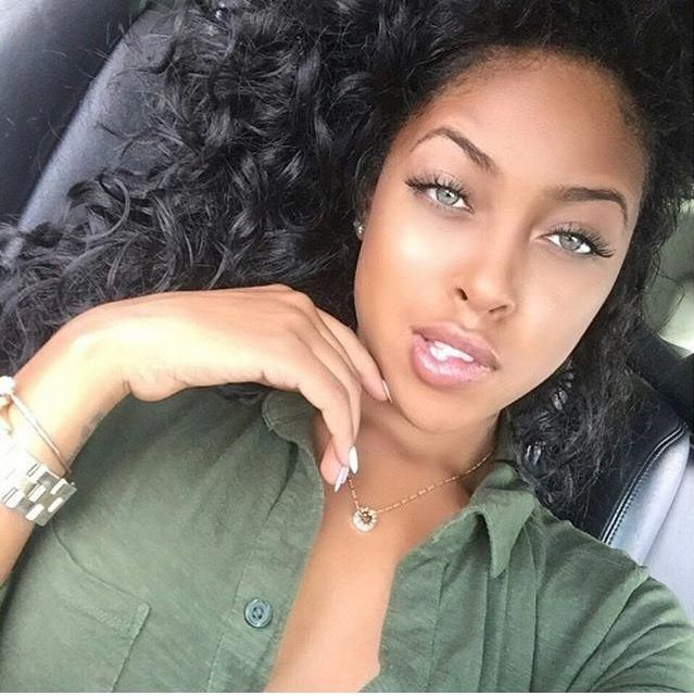 Image Result For Black Women With Green Eyes Black Hair Green