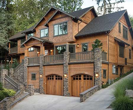 plan 69144am three level plan with warmth and elegance - Mountain Cabin Plans