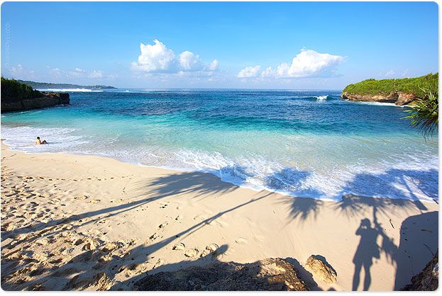 Morning light on a spectacular remote beach- Lembongan