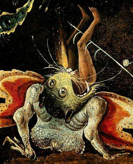 The Last Judgement Hieronymus Bosch | The Last Judgement, detail of a man bein - Hieronymus Bosch as art ...